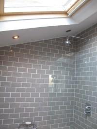 Grey Subway Tile Shower | Car Interior Design