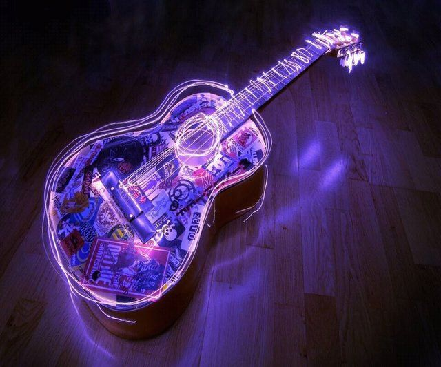 Pin Up Girl Wallpaper Free Glow In The Dark Guitar Glow In The Dark Art Pinterest