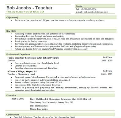 Account Manager Resume Example Teaching Resumes For New Teachers Free Elementary