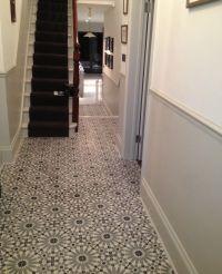 Encaustic Tiles (Barcelona 460) in hallway   Stairs ...