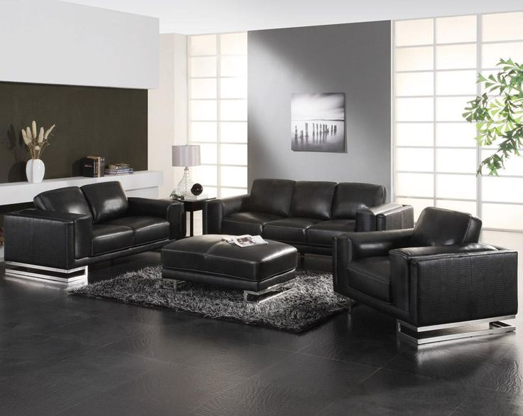 1000+ Ideas About Black Leather Couches On Pinterest | Black Couch