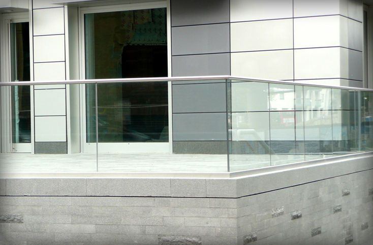 Balustrades Terrasse Glass Railing (with Metal Handrail) Stratford Elite