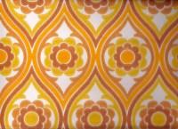 Vintage 1970s Wallpaper - Brown Funky Flower - Price per ...