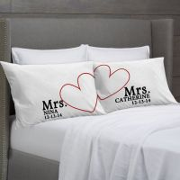 MRS and MRS Personalized Pillowcases Lesbian Couple Gift ...