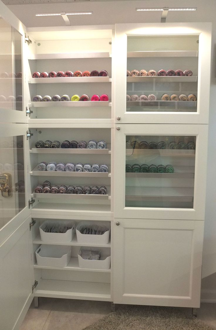 Ikea Pantry Glass Doors And Lighting Make This Besta Cabinet A Great