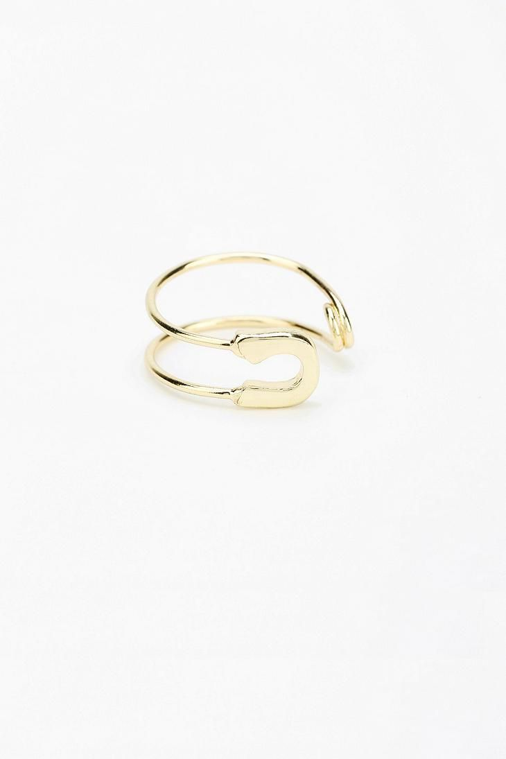 ring gold safety wedding rings Safety Pin Ring urbanoutfitters
