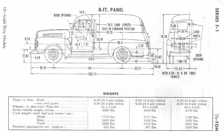 1951 f1 ford truck diagrama de cableado