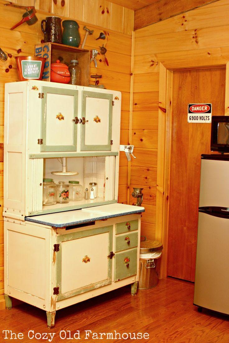 vintage hoosier cabinets kitchen remodeling montgomery al Hoosier Cabinet Antique Cabinets Old Farmhouses Vintage Cabin Vintage Style Vintage Kitchen Kitchen Cabinets Cupboards Bar Cabinets