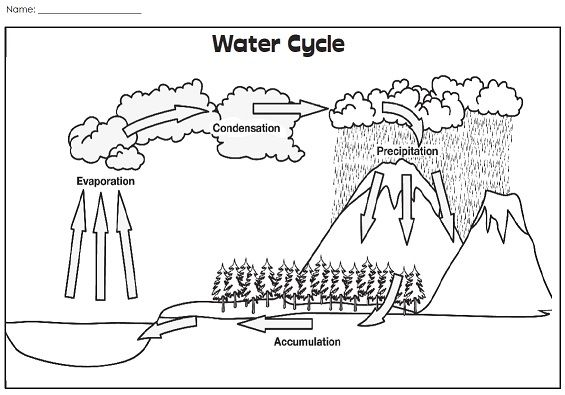 explanation of water cycle with the diagram