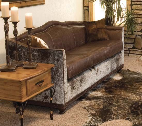 cowhide leather sofa western leather furniture rustic