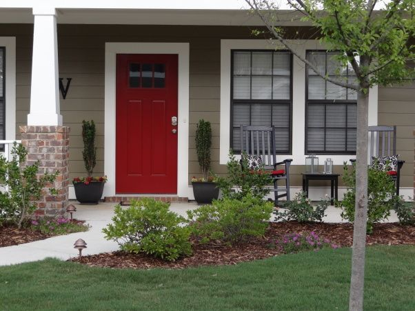 78+ Images About Front Door Colors On Pinterest | Red Front Doors