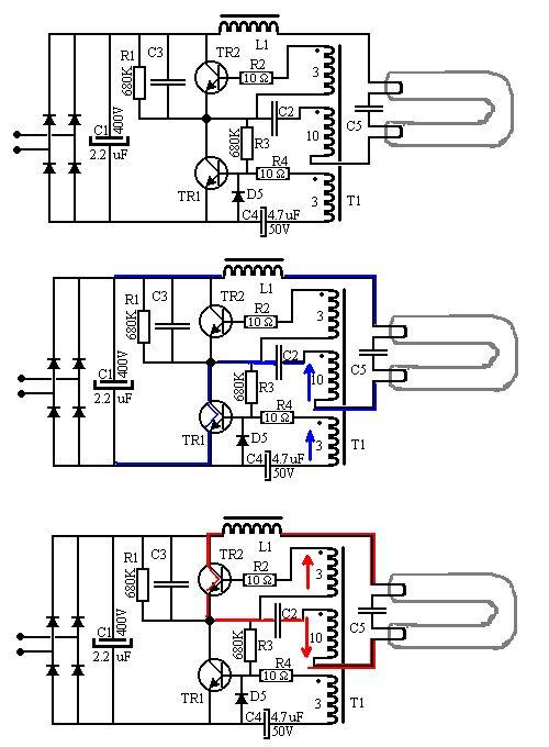 tesla diagrama de cableado de lampara