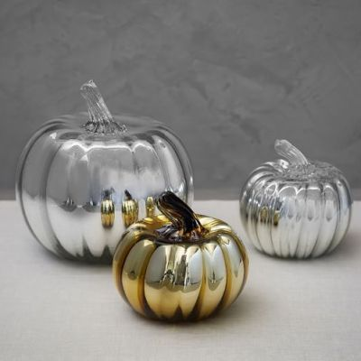 Recycled Glass Mercury Pumpkins