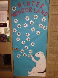 Winter Wonderland door decoration.