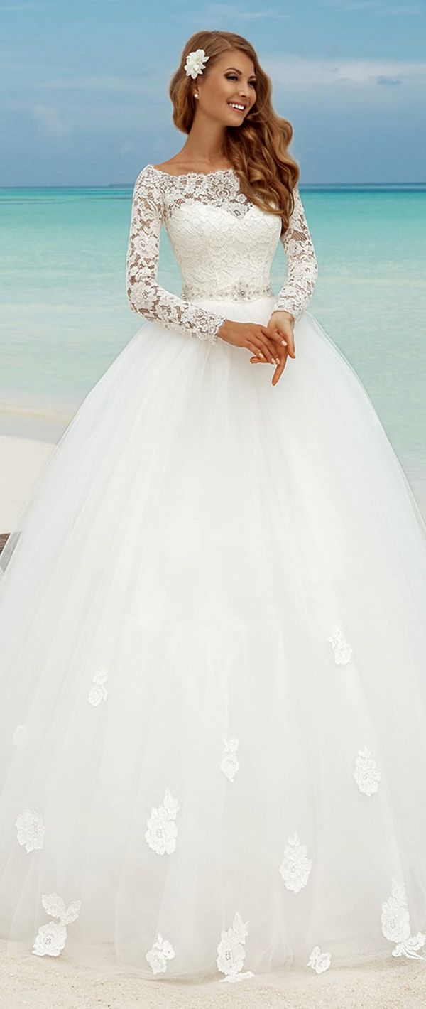 bateau wedding dress ball gown wedding dresses Fabulous Lace Bateau Neckline Ball Gown Wedding Dresses With Lace Appliques