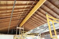 Vaulted ceiling installation...from House Tweaking Blog ...
