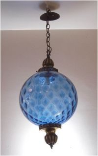 Vintage Hanging Light Fixture, Swag Lamp, Chain Cord, Mid ...