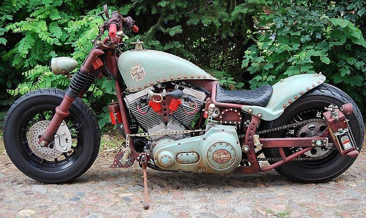 Free Desktop Wallpaper Classic Cars Harley Davidson Rat Bike Softail Fxst Custom Motorcycles