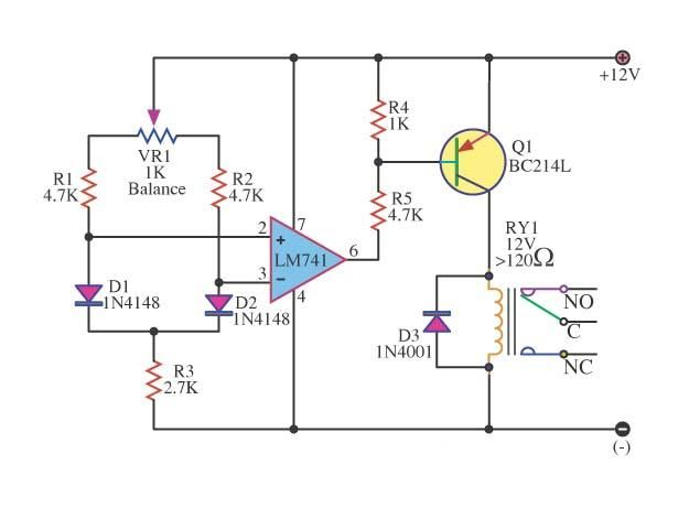 police lights circuit with 555 and 4017 ic