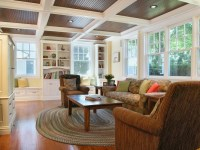 I love this beadboard ceiling with coffers. | Basement ...