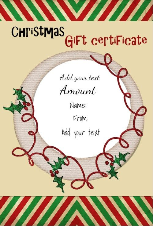 Printable Congratulations Certificate - Template Examples - christmas certificates templates for word
