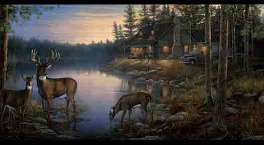 Thomas Kinkade Fall Desktop Wallpaper Wildlife Scenes Of Hunting Duck Hunters Dream Wallpaper