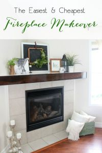 Fireplace makeovers, Fireplaces and Simple on Pinterest