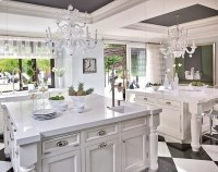 Beautiful kitchen. Love the double islands, lighting and ...