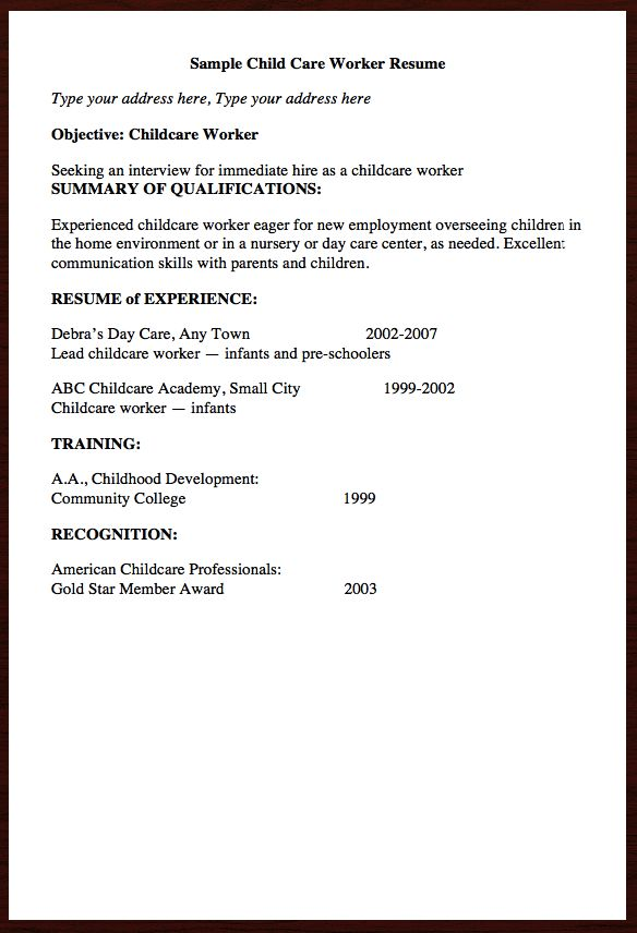 full size of resumechild care resume sample no experience dr barry - child caregiver resume
