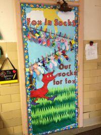 Fox in Sock door   General Classroom Ideas   Pinterest ...