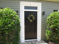Vinyl door surround with keystone | home decor | Pinterest ...