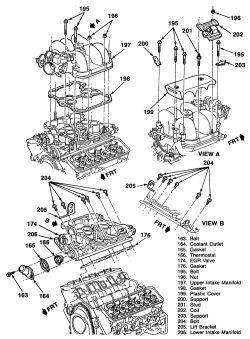 1997 chevy s10 Motor diagram