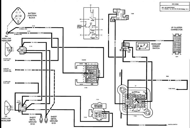auto ac electrical diagram