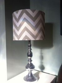 DIY: Chevron Lamp Shade Just figured out how I want to