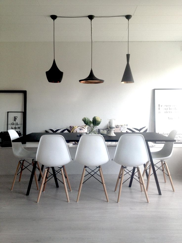 Hay Loop Stand Table Dining Room : Hay Loop Table, Tom Dixon Beat Light, Eames