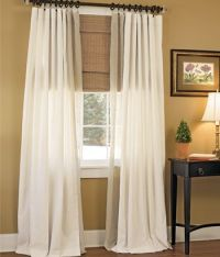 Homespun Weaver's Cloth Rod Pocket Curtains - I like this ...