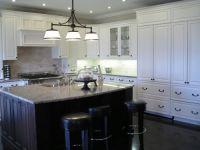 White Kitchen Dark Island | Ideas for school | Pinterest ...