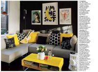 So cute, Black and Yellow Room | Yellow and Black Rooms ...