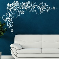Details about FLOWER TREE wall butterfly vine art stickers ...