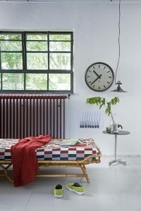 Vintage daybed, clock, table, lamp | Photographer Dennis ...