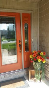 25+ best ideas about Orange front doors on Pinterest