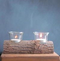 Best 25+ Log candle holders ideas on Pinterest