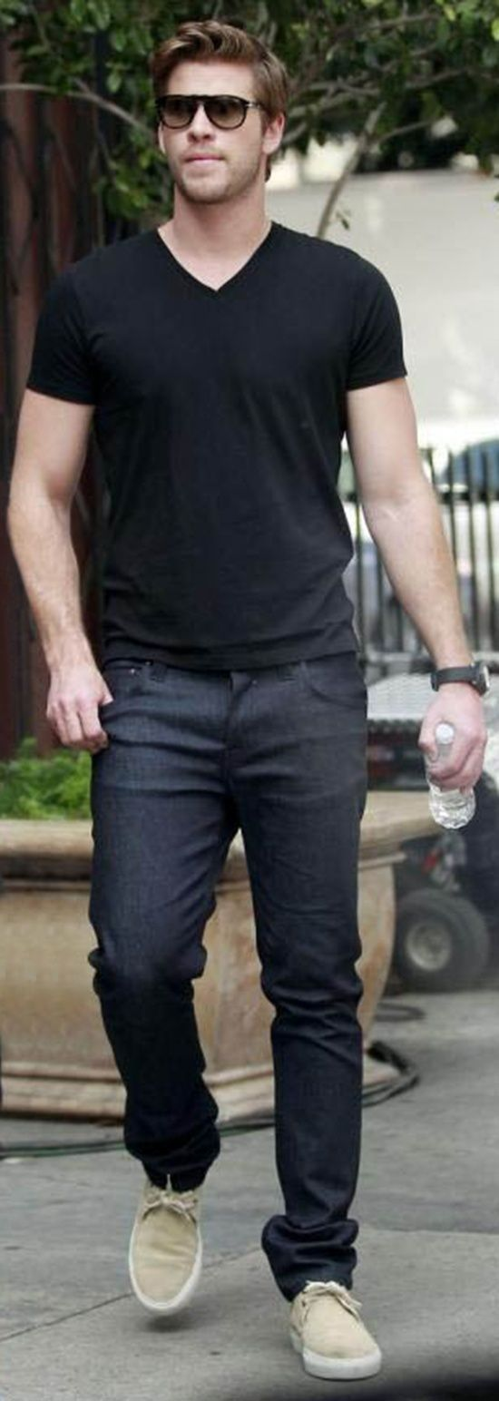 Black t shirt style is shirt