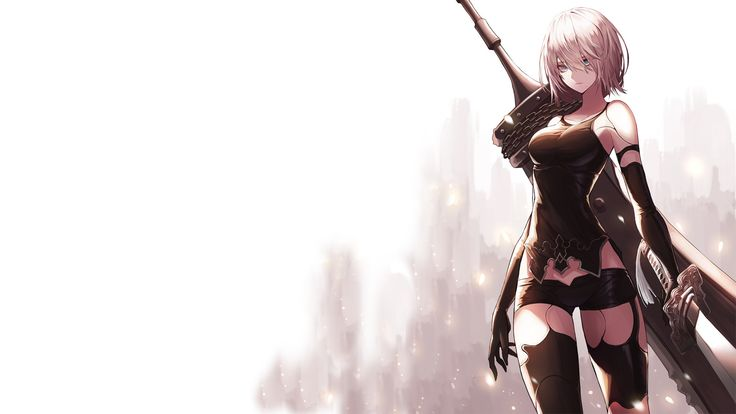 Kizuna Ai Wallpaper Hd Yorha A2 Katana And Sword Nier Automata Girl 32849 Nier