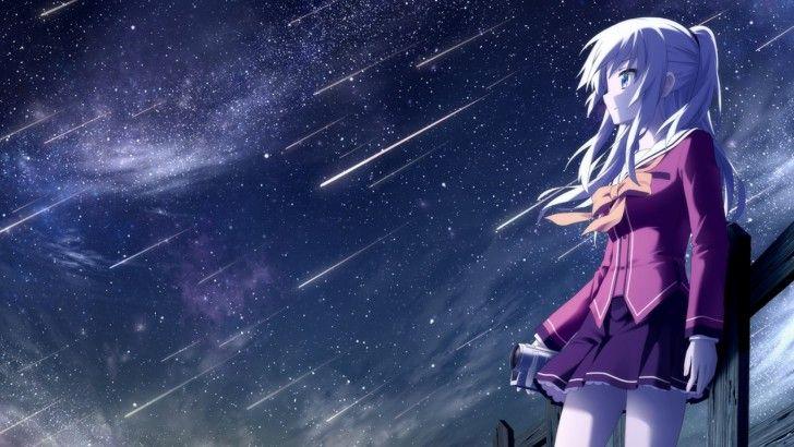 Girl Watching Stars Wallpaper Download Nao Tomori Charlotte Anime Girl Wallpaper