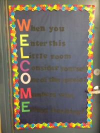 Welcome to our class! Door decoration for third grade