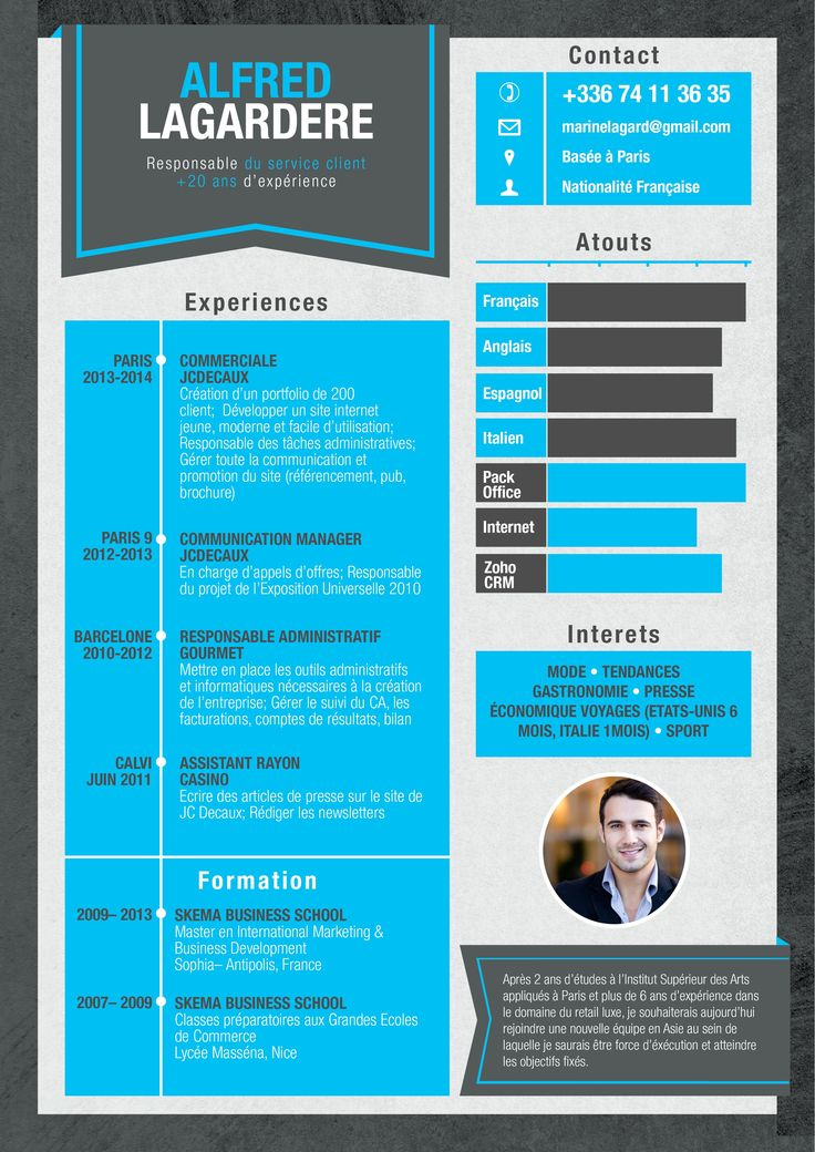 exemple cv gratuit design