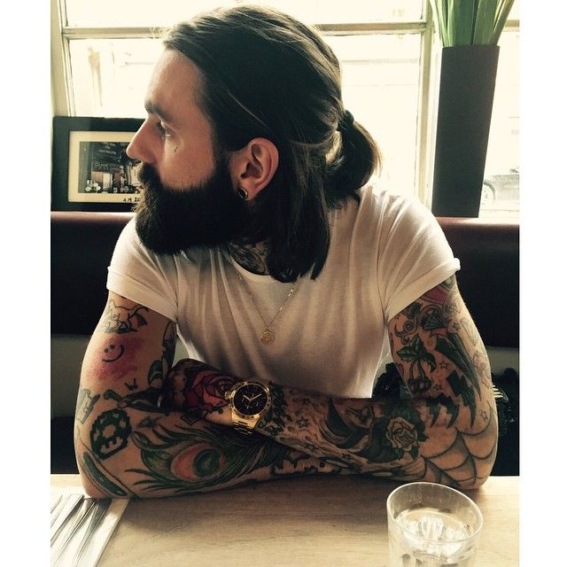 Male Model Haircuts 2017 Ricki Hall Full Thick Beard Beards Bearded Man Men Mens