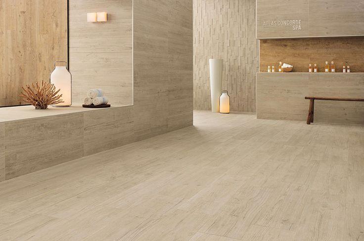Axi Porcelain Tile In White Pine Golden Oak Floor