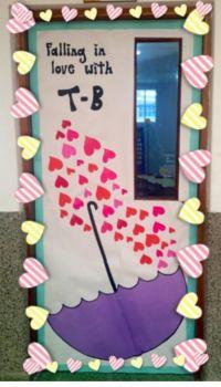 School door decorations. Love and friendship. Hearts ...